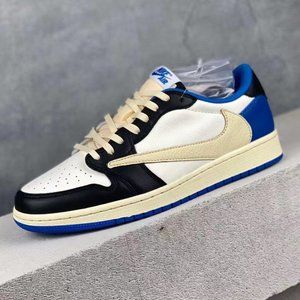 Fragment x Travis Scottx Air Jordan 1Military Blue